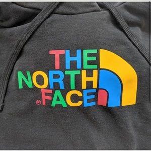 The North Face rainbow hoodie hooded sweatshirt